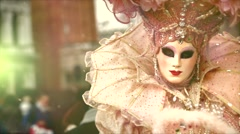 Participant in The Carnival of Venice Stock Footage