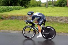 Ndividual time trial, polish championships in road cycling Stock Photos