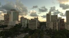 Time lapse sunset over Havana Stock Footage