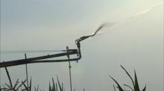 Irrigation Sprinkler Head End Close Up Stock Footage