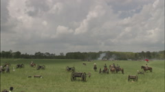 Civil War battlefield, Civil War scenes - stock footage