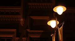 Flickering Street Lights Stock Footage