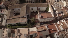 Aerial view of Seville city - Spain Stock Footage