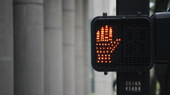 Crosswalk Signal - stock footage