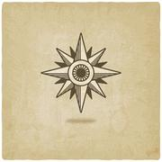Wind rose old background Stock Illustration