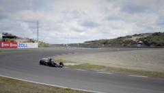Formula 1 race car - stock footage