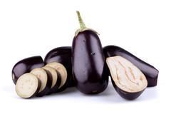Eggplants or aubergines - stock photo