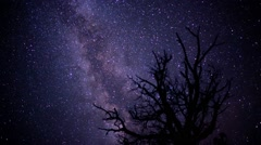 Milky Way Stars in the Desert - stock footage