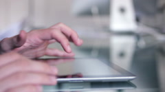 Hands on an Ipad Stock Footage