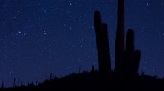 Desert Nightscape Time Lapse - stock footage