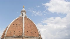 The dome of Basilica di Santa Maria del Fiore  Stock Footage