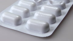 White pills generic Stock Footage