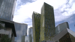City Center, Veer Condominiums, Crystals, Aria, Mandarin Oriental, Las Vegas Stock Footage