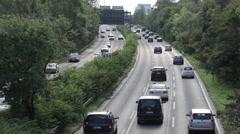 Cars on a german freeway. (Autobahn) - stock footage