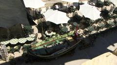 Aerial view of restuarant Malta Stock Footage