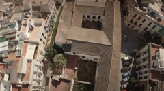 Forward aerial shot of Seville city - Spain Stock Footage
