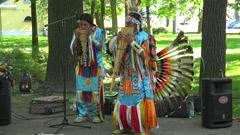 Indian street musicians. 4K. Stock Footage