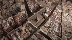 Aerial shot of  Seville city center - Spain Stock Footage