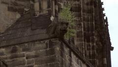 English Gothic Church Gargoyle Stock Footage
