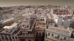 Static aerial shot of  Seville city center - Spain Stock Footage