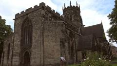English Gothic Church Stock Footage