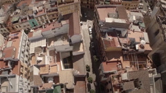Aerial zoom out of Seville city center - Spain Stock Footage