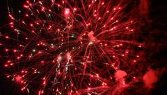 FIREWORKS Small Town Canada Day 12 Stock Footage