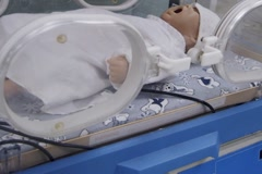 Healthcare Training - Baby in Incubator Stock Footage