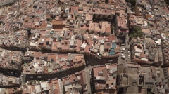 Aerial back travelling of city center, Seville - Spain Stock Footage
