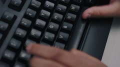 Rotating Hands on Keyboard Typing - Identity Theft, Online Crime, Bullying Stock Footage