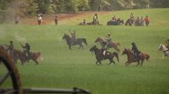 Civil War battlefield, Civil War scenes - stock footage