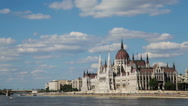 Stock Video Footage of The Parliament Building in Budapest, Hungary