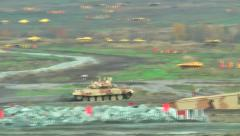 Motion of T90S tank Stock Footage