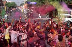 The Holi feast India - stock photo