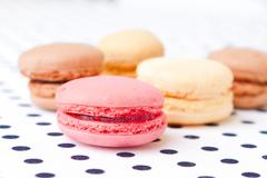 assorted macaroon - stock photo