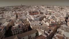 Forward aerial shot of Seville - Spain Stock Footage