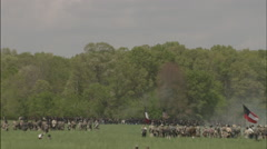 Civil War Soldiers on the battlefield - stock footage
