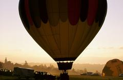 Hot Air Balloon at a Competition in France Stock Photos