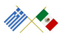 Stock Illustration of flags, mexico and greece
