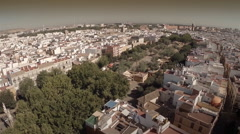 Aerial shot of Alameda de Hercules, Seville - Spain Stock Footage