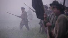 Civil War soldiers advancing, Civil War scenes - stock footage
