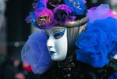 Feast of Carnival of the World at Venice Italy Stock Photos