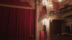 Architectural Detail of theatre Stock Footage