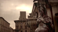 Statue of Female ancient roman Stock Footage