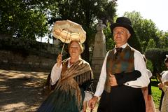 Feast and folklore of Costume in Provence in France - stock photo