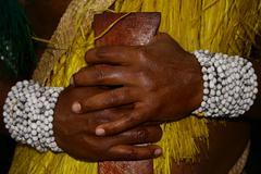 Feast and Tradition at Island of Futuna in Vanuatu Oceania - stock photo