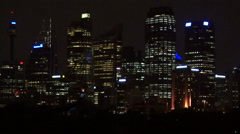 Tracking shot at night of Sydney city Stock Footage
