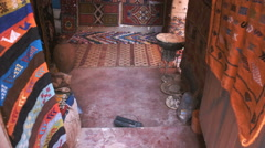 Souvenirs shop inside of the walls of the fort Aït Benhaddou Stock Footage