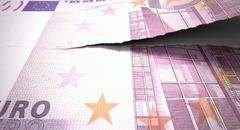 Tearing euro note Stock Illustration