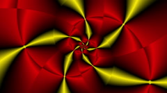 Rose fractal psychedelic color changing Yellow - LoopNeo VJ Loops HD 1920X1080 - stock footage